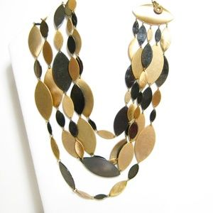 Just Sweet Copper Gold Bold Retro Style Necklace